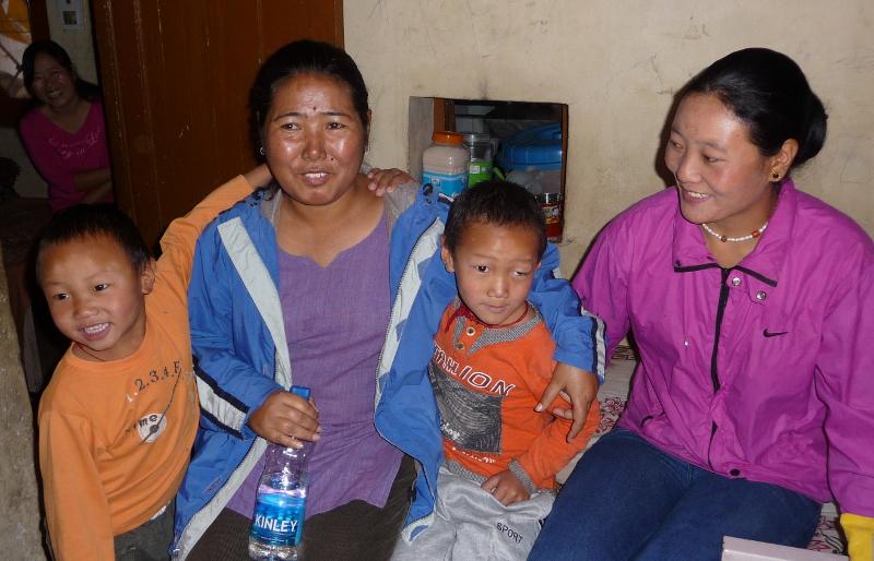Tsering Dolkar in blue