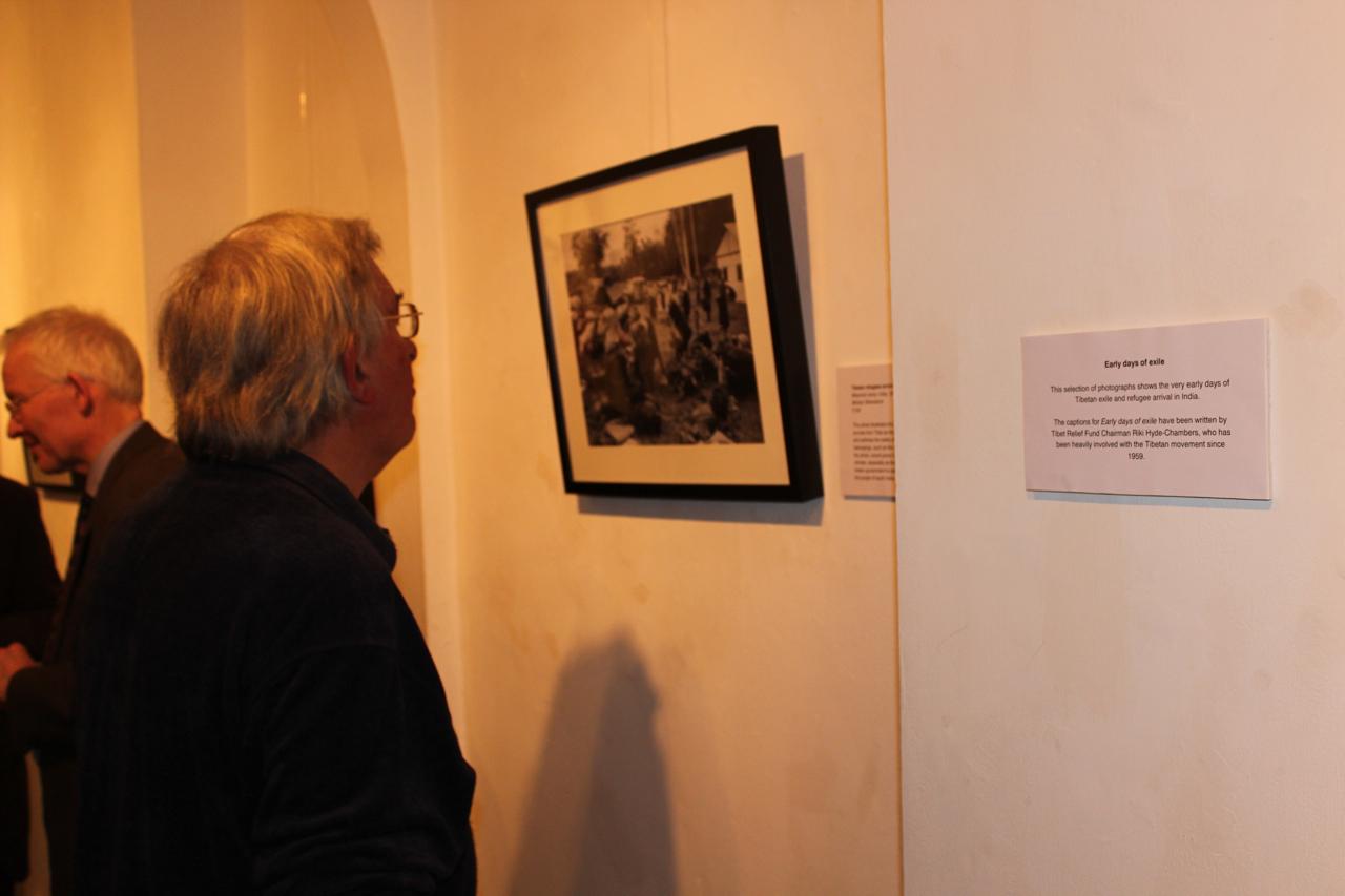 Admiring the photographs