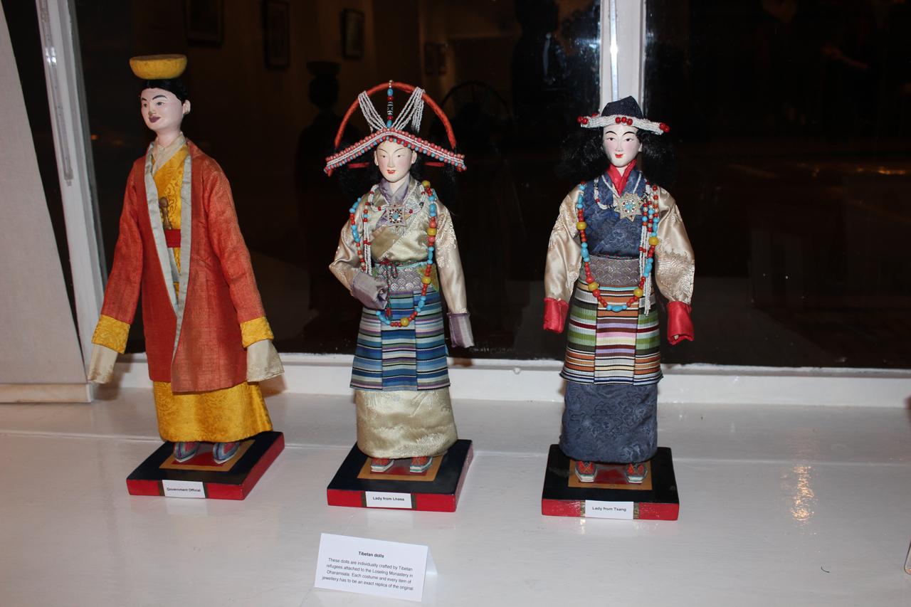 Traditional Tibetan dolls on display