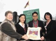 Youdon Aukatsang and Tsering Passang visit Prudhoe School, Northumberland