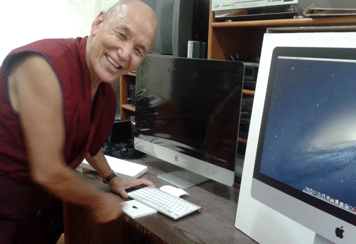 Annual Review: Library of Tibetan Works and Archives receives a new computer