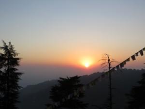 Sunset over McLeod Ganj