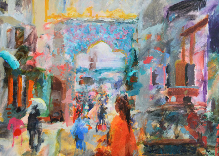Tibet Matters: From Hampshire with Love, Julian Bond paints for Tibetan refugees
