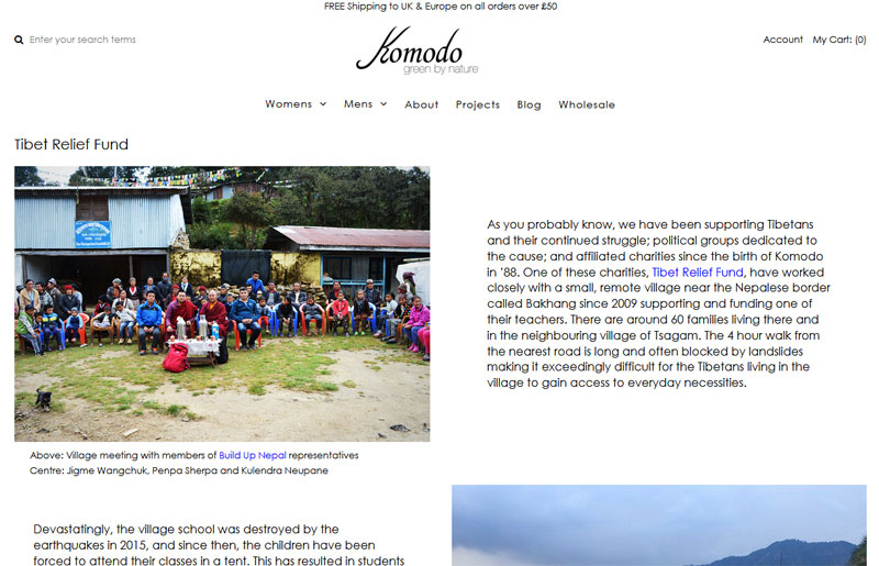 Fundraising – Fantastic ethical clothing brand Komodo raise £2,500 for Bakhang School