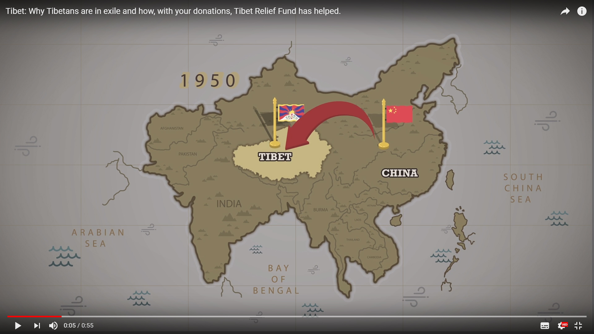 Video: Why Tibetans are in exile and how, with your donations, Tibet Relief Fund has helped.