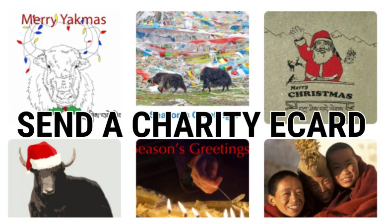 Send your Tibet themed charity e-cards today!