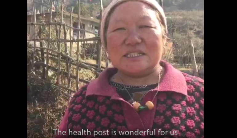 Delima Tamang talks about the difference the health post will make for the people of Bakhang